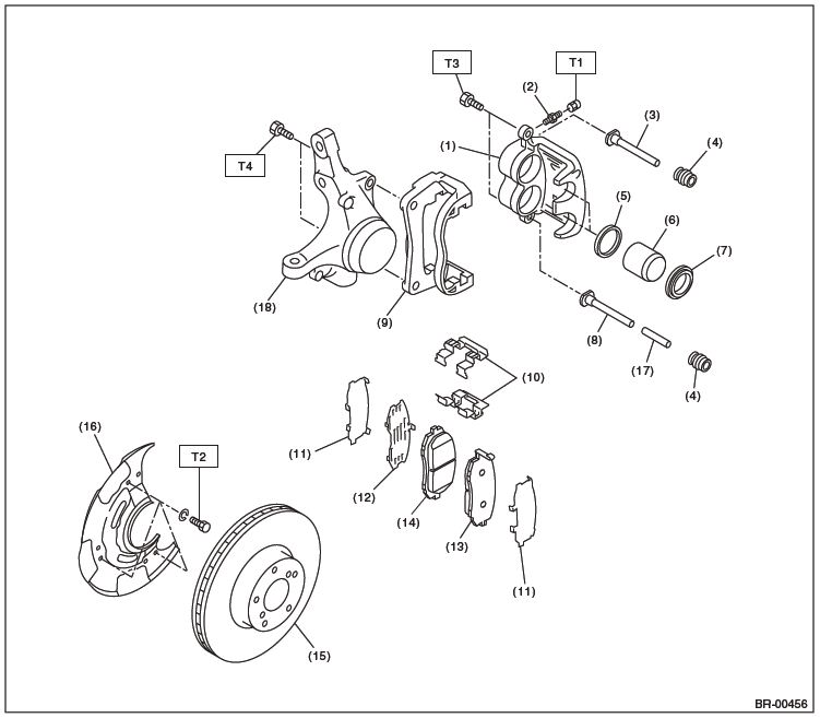 2011 subaru outback rear brakes